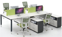 Office Desk Workstation Wooden Cubicle Partitions for 4 Person (FOH-CXSF4-3024)