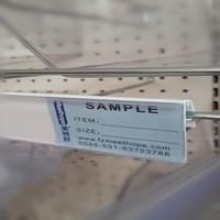 Supermarket Plastic Data Strips Wire Basket Label Holder For Shelf Channel