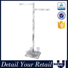 Super U manufacture wooden metal stand for fashion belts display rack