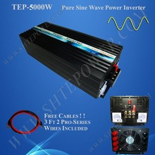 12V 24V 48V DC To 110V 220V 230V 240V AC Pure Sine Wave 5000W Power Inverter