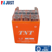 High quality 12v 2.5ah Sealed activated vrla motorcycle battery