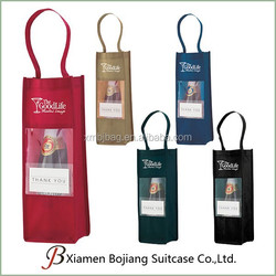 Factory price cheap non woven bottle tote bag promotional