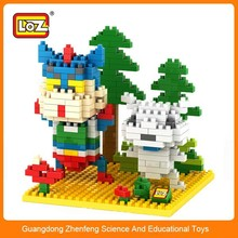 LOZ plastic diy cartoon character toys 2015 new products