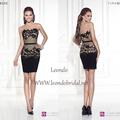 Tarik ediz vestidos curtos 2015 de renda preta plus size cocktail vestidos de festa colher mini 2015 vestidos de festa