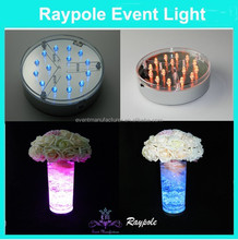 Unique design 10cm single color wedding favors and gifts led illuminator for guest table decor