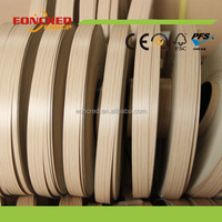 plastic wood shelf edge banding tapes , Plastic pvc kitchen cabinet shelf edge banding