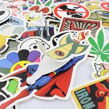 100PCS/Pack Random music film Vinyl Skateboard Guitar Travel Case sticker lot pack Car decal Cute Stickers