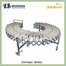 Sistema de transportador de rodillos de gravedad extensible flexible