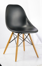 dining chair with abs seat and ash wood leg