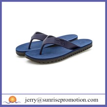 Hot selling fancy rubber blue flip flops
