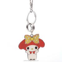 HOMEQI spiral string cord keychain/fashion metal keychain manufacturing pleeasant girl keychain HQKC290425