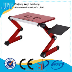 Fashion multi colors folding cheap laptop table black laptops stand for students