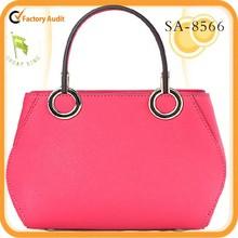 2015 brand designer fashion leather women hand bag tote bag china supplier