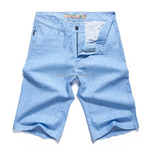 high quality men straight fit custom denim shorts