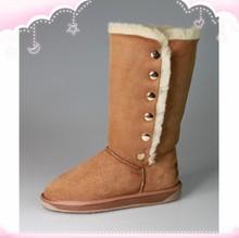 Long Style Bailey Button Triplet Women Australia Sheepskin Boot