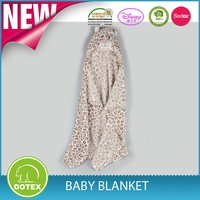 2015 Baby blanket with hoody in stock for wholesale, 100% polyester baby swaddle wrap
