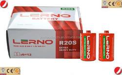 cheap R20 Size D Heavy Duty DRY BATTERY 1.5V popular in africa