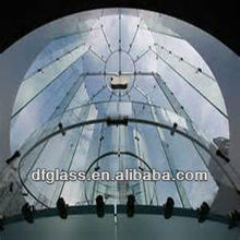 artistic tempered bent glass for canopy