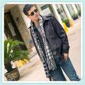 rwt102 jacquard de moda los hombres árabes bufanda con borlas