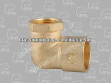 260-42 90 degree equal elbow brass fitting (BRASS FEMALE SWEAT ELBOW 90(F X C) COPPER.)(DZR)