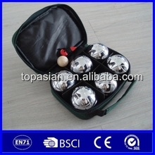 Iron or Plastic french boules/ buy petanque set for outdoor lawn