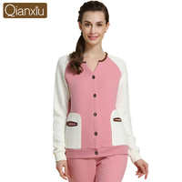 Qianxiu long sleeve winter night suit for men