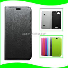 Stand Book Soft TPU Cover Sikn with Suction Cup Ultrathin Cell Phone Protective Case Cover for Sony Xperia L S36h