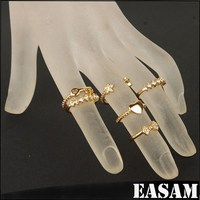 Wholesale Gold Ring set,Fashion Midi Ring,6 pcs Lovely Knuckle Ring