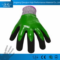 QL Top and Superior Nitrile coated Finger protection cutting gloves