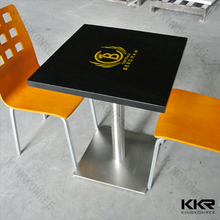 marble top dining table / chair and table in fast food restaurant / unique design marble coffee table