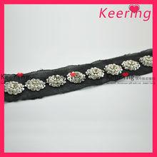 shoes decoration crochet /5cm lace trim for wedding dress WTP-1160