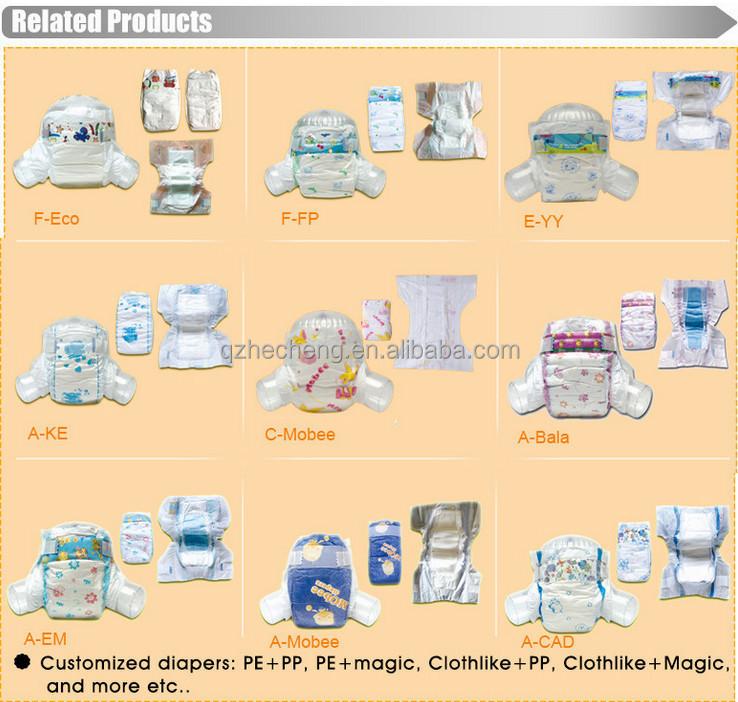 Bébé produits de soins gros jetables couches pour bébés fournisseurs