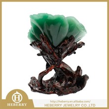 natural emerald stone sculpture rose flower shape good for wedding gift