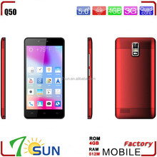 buy in china from colombia Telefono 5'' Android 4.4 Quadcore 3g cellulare android