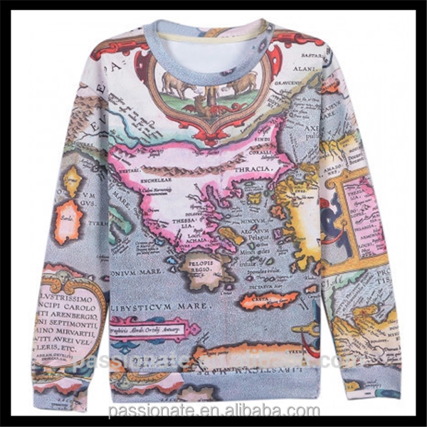 Map print wholesale sublimation custom printed 3d t shirts for Wholesale custom printed t shirts