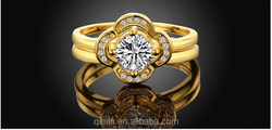2015 Latest Newest design luxury 24K gold plated Rose gold plated white gold plated rings wedding rings