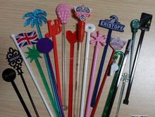 plastic cocktail swizzle sticks