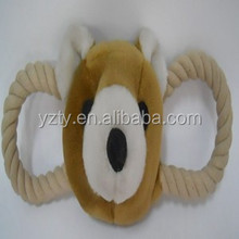 Good design stuffed dog toys with rope
