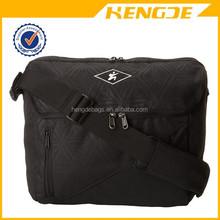 factory wholesale men black polyester shoulder messenger bag