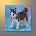 çocuk odası duvar dekorasyon el yapımı sevimli hayvanlar küçük husky köpek bebek yağlıboya