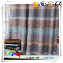 Multi color stripe linen/cotton fabric for Curtain, Cushion cover, Bedding-rainbow style