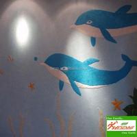 YISENNI Finish Coat Interior Silk Plaster Wall Paint