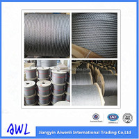 6x19 Stainless/galvanized Steel Wire Rope for post Tensioner