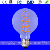 china vintage led bulb, best price filament bulb G95 7W
