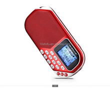 Ultra slim design 1.4 inch good digital player portable card speaker with FM radio 15 hours long playing time