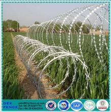 Cbt 65 concertina wire(razor wire) double spiral razor barbed wire