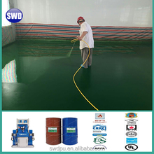 two component solvent free self-leveling polyurea coating