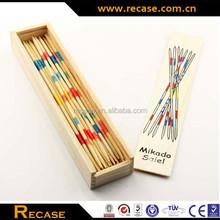 Wooden domino&mikado play set