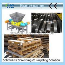 Shredder chipper for wood, plastic, solid waste