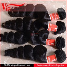 7A ideal soft and beautiful unprocessed malaysian loose wave hair weft